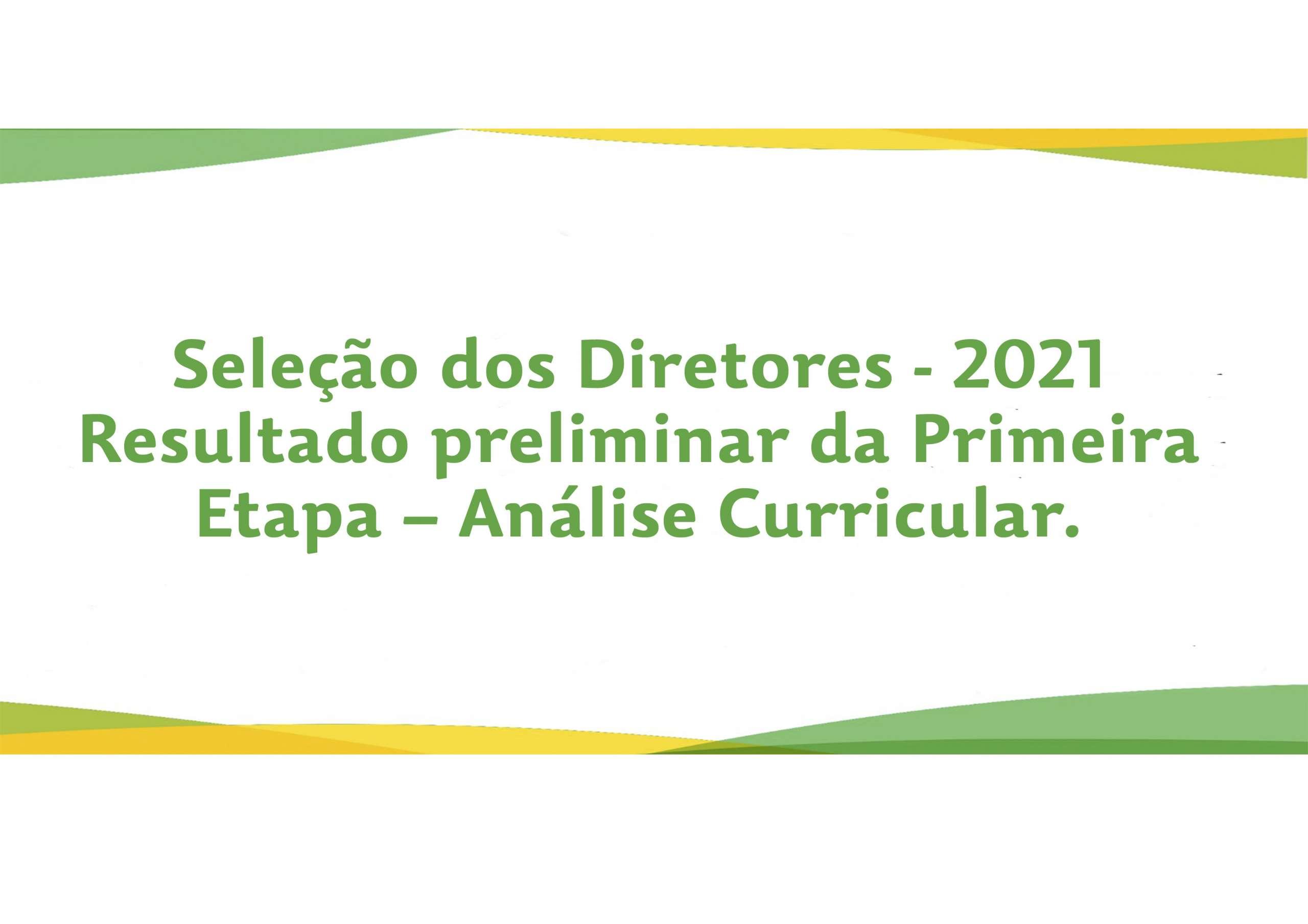 Seleção Diretores – Seas- 2021